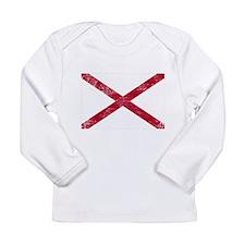 Alabama Flag Long Sleeve Infant T-Shirt