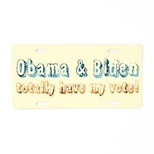 Vintage Obama Biden Aluminum License Plate