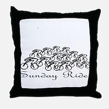Sunday ride Throw Pillow