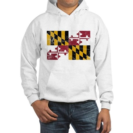 Maryland Flag Hooded Sweatshirt