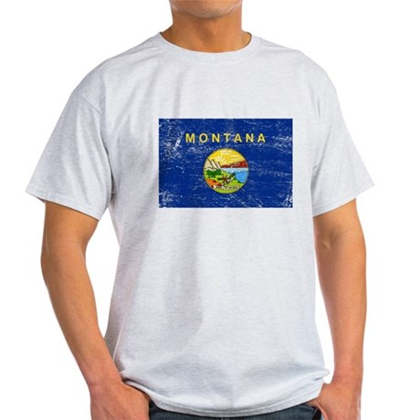 Montana Flag Light T-Shirt