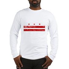 Washington DC Flag Long Sleeve T-Shirt