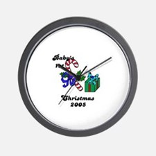 BABY'S FIRST CHRISTMAS 2005   Wall Clock