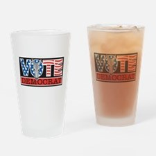 Vote Democrat Pint Glass