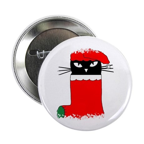 "CHRISTMAS KITTY 2.25"" Button (100 pack)"
