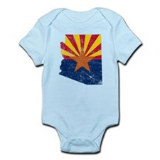 Arizona Flag Map Infant Bodysuit