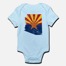Arizona Flag Map Infant Bodysuit