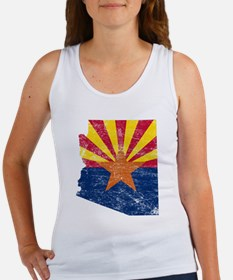 Arizona Flag Map Women's Tank Top