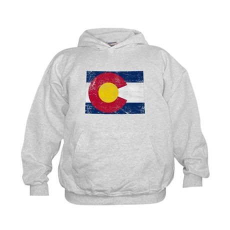 Colorado Flag Map Kids Hoodie