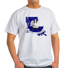 Louisiana Flag Map T-Shirt