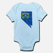 Nevada Flag Map Infant Bodysuit