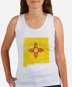 New Mexico Flag Map Women's Tank Top
