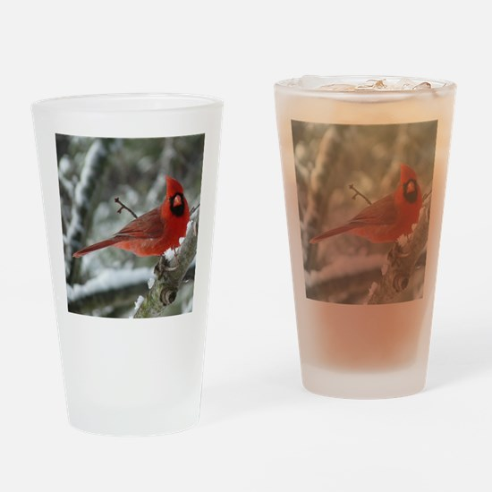 Cardinal Winter Drinking Glass