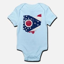 Ohio Flag Map Infant Bodysuit