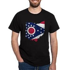 Ohio Flag Map T-Shirt