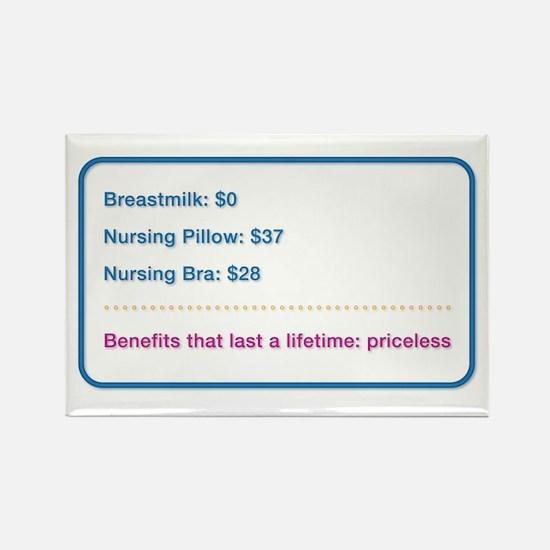 Breastfeeding Priceless Benefits Rectangle Magnet