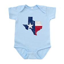 Texas Flag Map Onesie