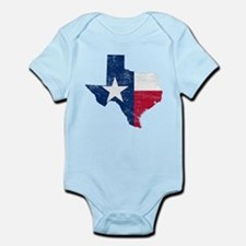 Texas Flag Map Onesie