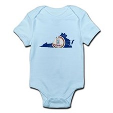 Virginia Flag Map Infant Bodysuit