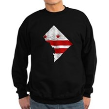 Washington DC Flag Map Sweatshirt