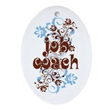 Job coach Oval Ornaments