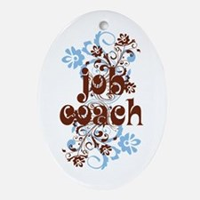 Job Coach Gift Ornament (Oval)