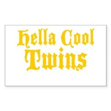 hella Cool Twins Decal