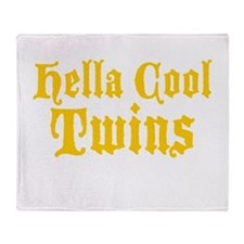 hella Cool Twins Throw Blanket