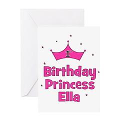 1st Birthday Princess ELLA Greeting Card
