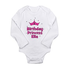 1st Birthday Princess ELLA Long Sleeve Infant Body