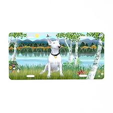 Birches / Bull Terrier 1 - Aluminum License Plate