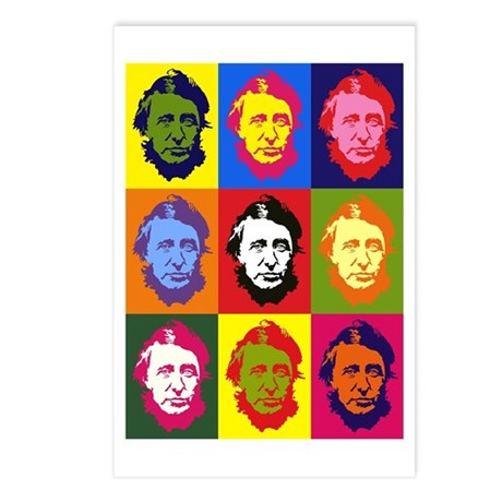 Mutli-Thoreau Postcards (Package of 8)