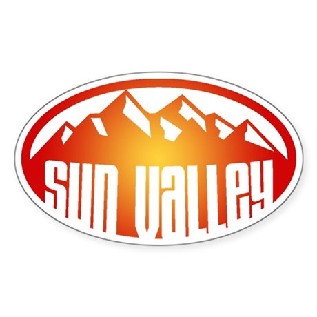 Sun Valley Sticker (Oval)
