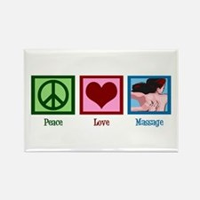 Peace Love Massage Rectangle Magnet