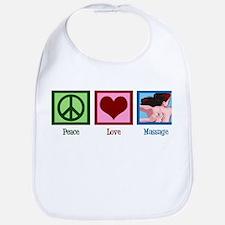 Peace Love Massage Bib