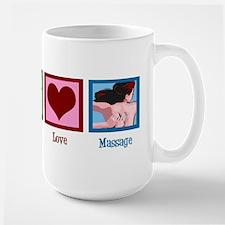 Peace Love Massage Large Mug