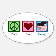Peace Love Massage Decal