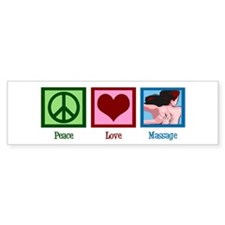 Peace Love Massage Bumper Sticker