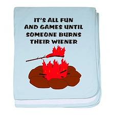 Someone Burns Wiener baby blanket