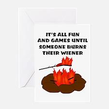 Someone Burns Wiener Greeting Card