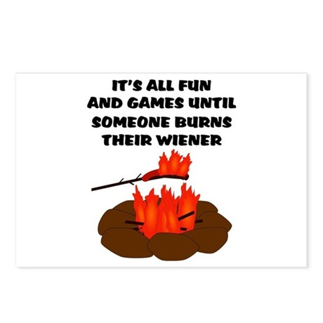 Someone Burns Wiener Postcards (Package of 8)