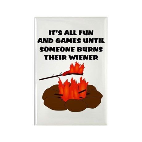 Someone Burns Wiener Rectangle Magnet (100 pack)