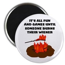 Someone Burns Wiener Magnet