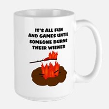 Someone Burns Wiener Large Mug