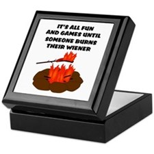 Someone Burns Wiener Keepsake Box