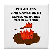 Someone Burns Wiener Tile Coaster
