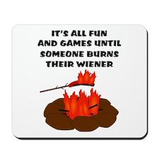 Someone Burns Wiener Mousepad