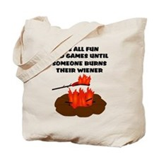 Someone Burns Wiener Tote Bag