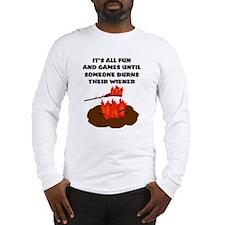 Someone Burns Wiener Long Sleeve T-Shirt