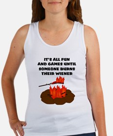 Someone Burns Wiener Women's Tank Top